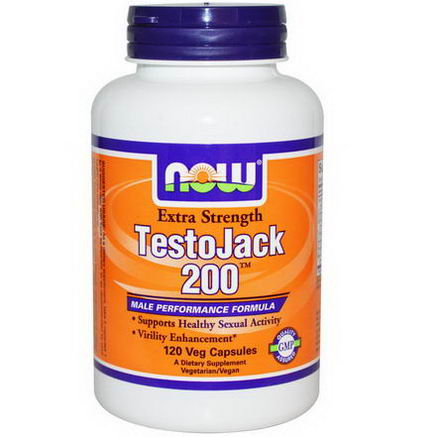Now Foods, TestoJack 200, Extra Strength, 120 Veggie Caps