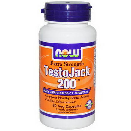 Now Foods, TestoJack 200, Extra Strength, 60 Veggie Caps