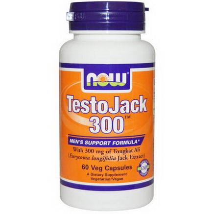 Now Foods, TestoJack 300, 60 Veggie Caps
