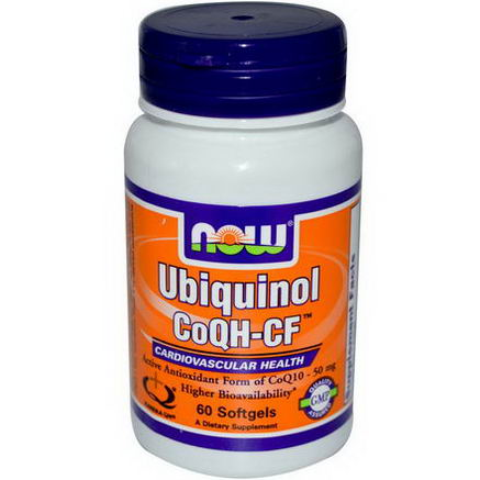 Now Foods, Ubiquinol CoQH-CF, 60 Softgels