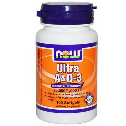 Now Foods, Ultra A & D-3, 25, 000/1, 000 IU, 100 Softgels