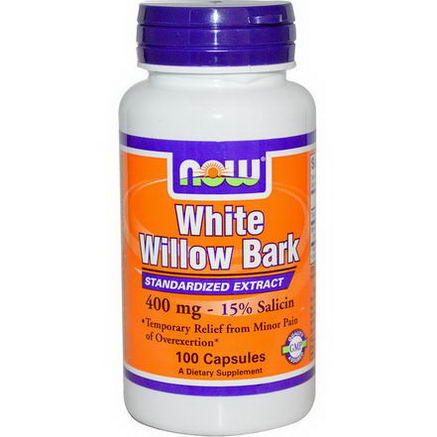 Now Foods, White Willow Bark, 400mg, 100 Capsules