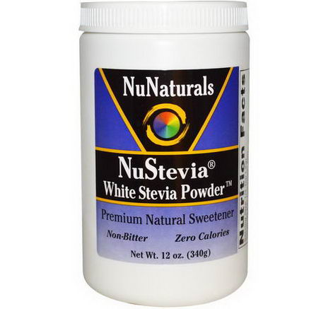 NuNaturals, NuStevia White Stevia Powder, 12oz (340g)