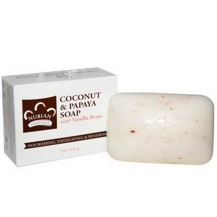 Nubian Heritage, Coconut & Papaya Soap, 5oz (141g)
