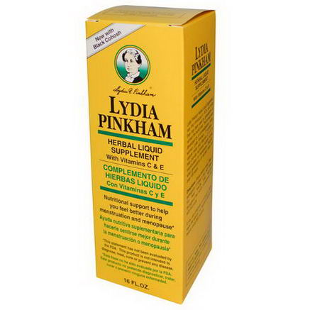 Numark Laboratories, Inc, Lydia Pinkham Herbal Liquid Supplement for Menopause, 16 fl oz