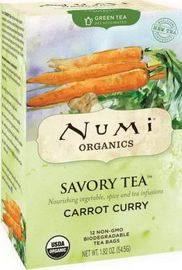 Numi Tea, Organic, Savory Tea, Carrot Curry, 12 Tea Bags, 1.92oz (54.5g)