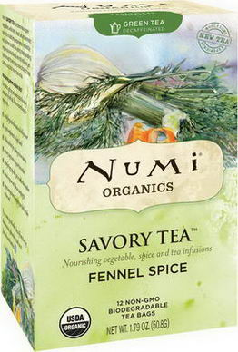 Numi Tea, Organic, Savory Tea, Fennel Spice, 12 Tea Bags, 1.79oz (50.8g)