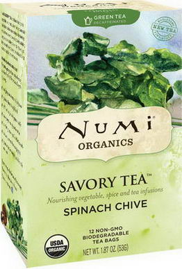 Numi Tea, Organics, Savory Tea, Spinach Chive, 12 Tea Bags, 1.87oz (53g)