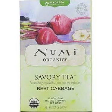 Numi Tea, Savory Tea, Beet Cabbage, 12 Tea Bags, 2.01oz (57.1g)