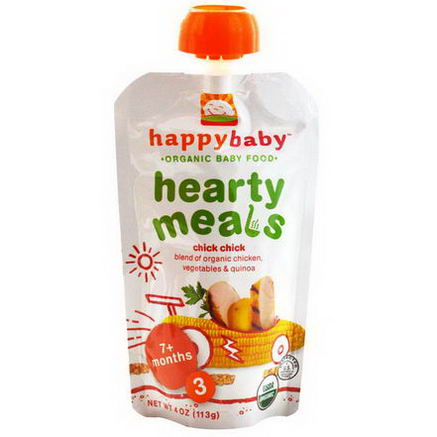 Nurture Inc. (Happy Baby), Organic Baby Food, Hearty Meals, Chick Chick, Stage 3, 4oz (113g)