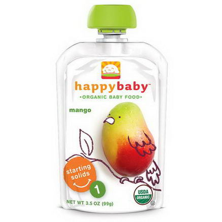 Nurture Inc. (Happy Baby), Organic Baby Food, Stage 1, Mango, 3.5oz (99g)