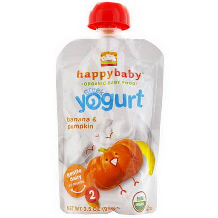 Nurture Inc. (Happy Baby), Stage 2, Greek Yogurt, Banana & Pumpkin, 3.5oz (99g)