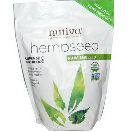 Nutiva, Organic Hempseed, Raw Shelled, 12oz (340g)
