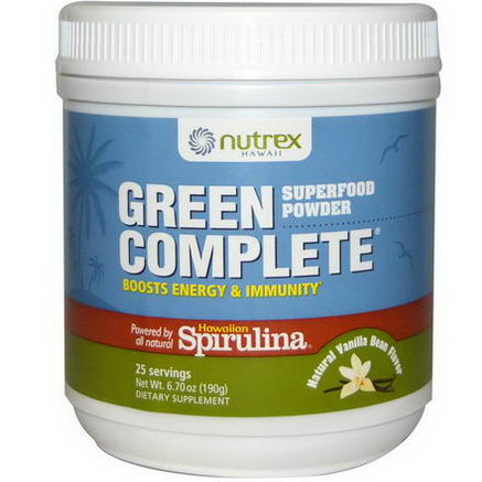 Nutrex, Green Complete, Superfood Powder, Natural Vanilla Bean Flavor, 6.70oz (190g)