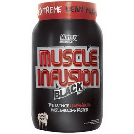 Nutrex Research Labs, Muscle Infusion Black, Muscle-Building Protein, Cookie Madness, 2 lbs (908g)