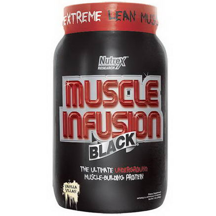 Nutrex Research Labs, Muscle Infusion, Black, Muscle-Building Protein, Vanilla Beast, 2 lbs (908g)