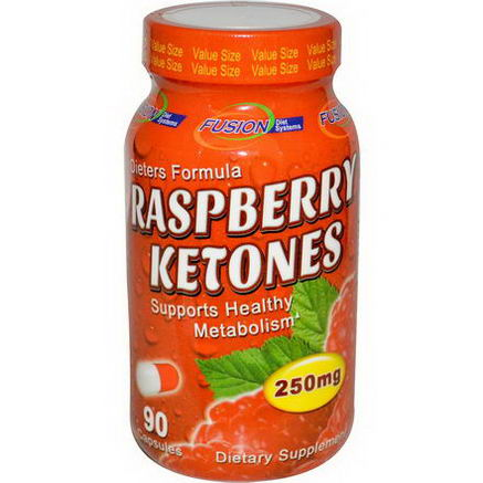 Fusion Diet Systems, Raspberry Ketones, 250mg, 90 Capsules