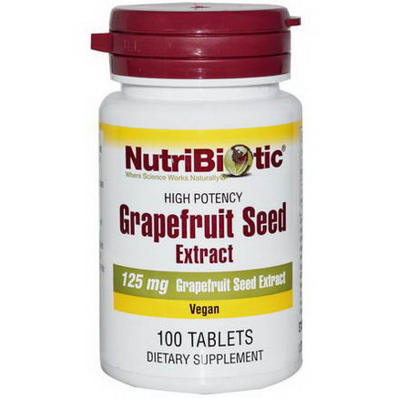 NutriBiotic, Grapefruit Seed, Extract, 125mg, 100 Tablets