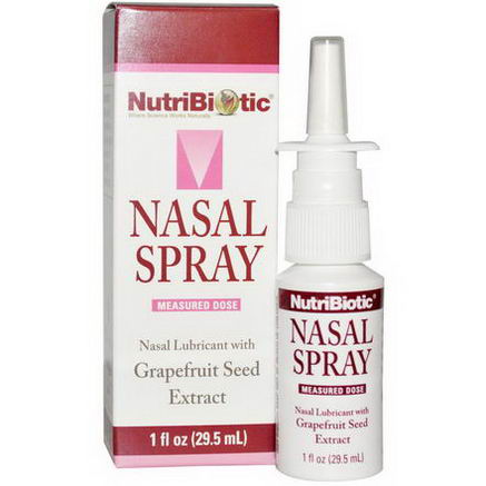 NutriBiotic, Nasal Spray, with Grapefruit Seed Extract, 1 fl oz (29.5 ml)