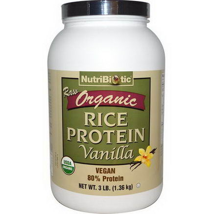 NutriBiotic, Raw Organic Rice Protein, Vanilla, 3 lb (1.36 kg)