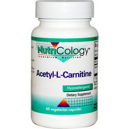 Nutricology, Acetyl-L-Carnitine, 60 Veggie Caps