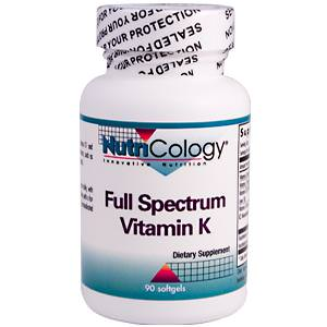 Nutricology, Full Spectrum Vitamin K, 90 Softgels