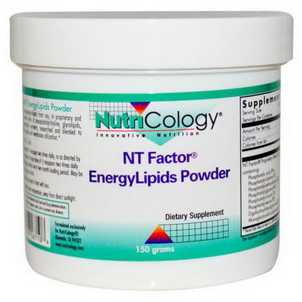 Nutricology, NT Factor, EnergyLipids Powder, 150grams