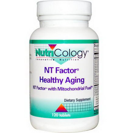 Nutricology, NT Factor Healthy Aging, with Mitochondrial Fuel, 120 Tablets
