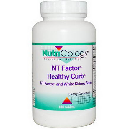 Nutricology, NT Factor, Healthy Curb, and White Kidney Bean, 180 Tablets