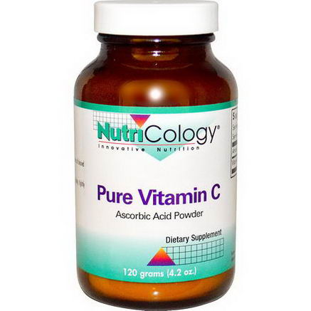 Nutricology, Pure Vitamin C, Powder, 4.2oz (120g)