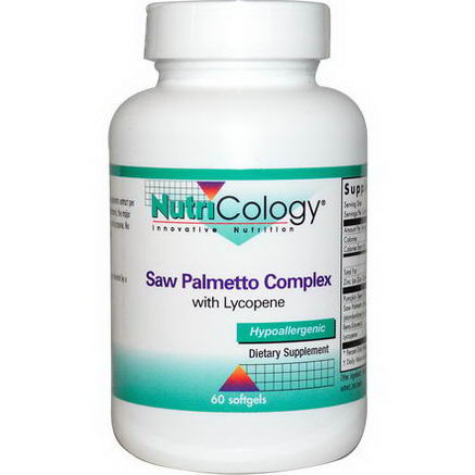 Nutricology, Saw Palmetto Complex, with Lycopene, 60 Softgels