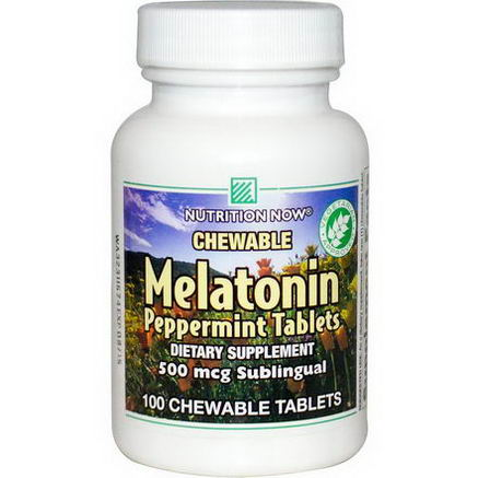 Nutrition Now, Melatonin, Peppermint Tablets, 100 Chewable Tablets