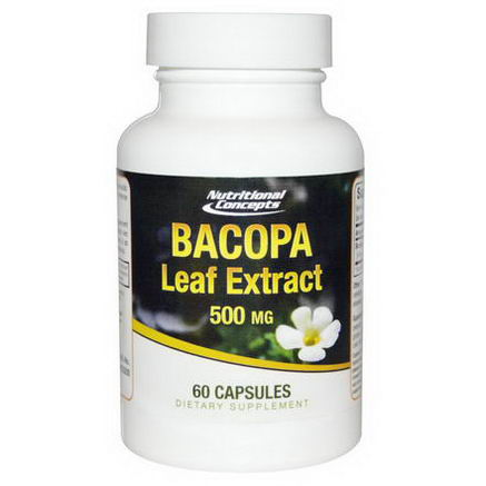 Nutritional Concepts, Bacopa Leaf Extract, 500mg, 60 Capsules