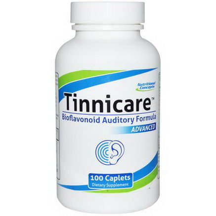 Nutritional Concepts, Tinnicare, Advanced Bioflavonoid Auditory Formula, 100 Caplets