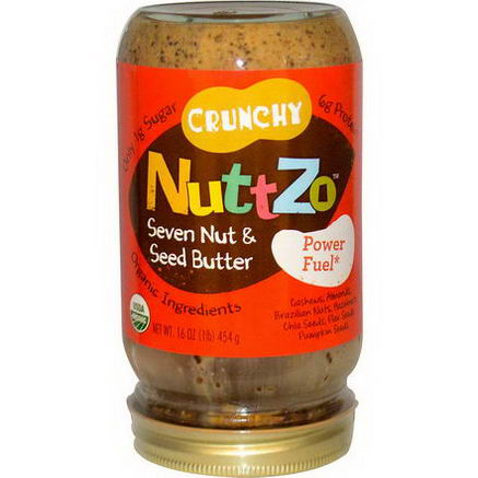 Nuttzo, Crunchy Seven & Nut Seed Butter, Power Fuel, 16oz (454g)