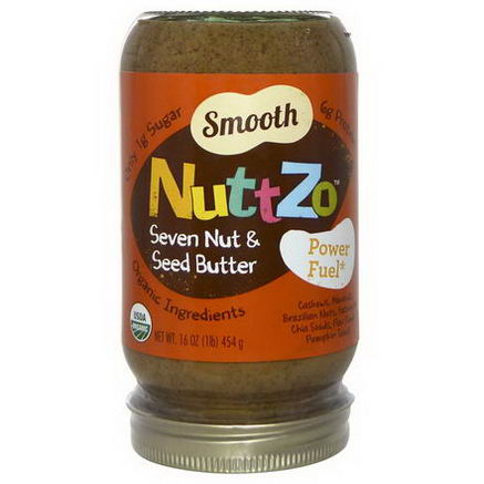Nuttzo, Smooth Seven Nut & Seed Butter, Power Fuel, 16oz (454g)