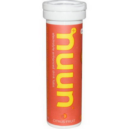 Nuun Hydration, Electrolyte-Enhanced Drink Tabs, Citrus Fruit, 12 Tabs