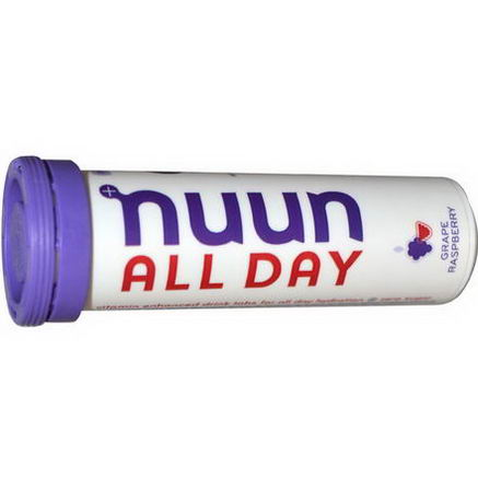 Nuun Hydration, Vitamin Enhanced Drink Tabs, All Day, Grape Raspberry, 15 Tabs, (51g)
