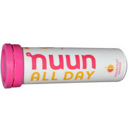 Nuun Hydration, Vitamin Enhanced Drink Tabs, All Day, Grapefruit Orange, 15 Tabs