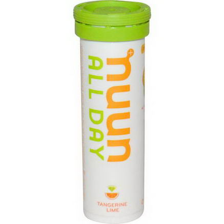 Nuun Hydration, Vitamin Enhanced Drink Tabs, All Day, Tangerine Lime, 15 Tabs