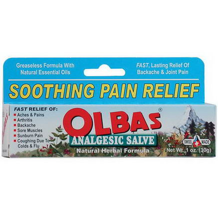 Olbas Therapeutic, Analgesic Salve, Natural Herbal Formula, 1oz (28g)