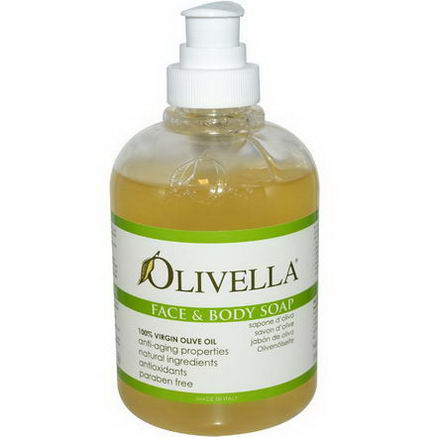 Olivella, Face and Body Soap, 10.14 fl oz (300 ml)
