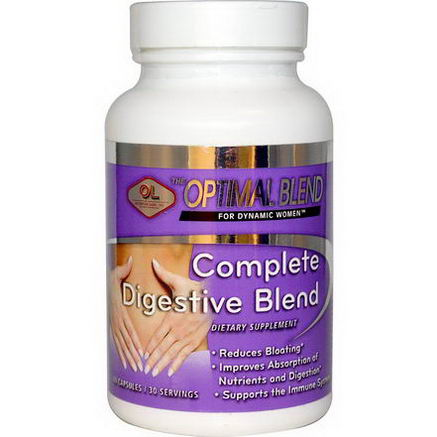 Olympian Labs Inc. Optimal Blend, Complete Digestive Blend, For Women, 60 Capsules