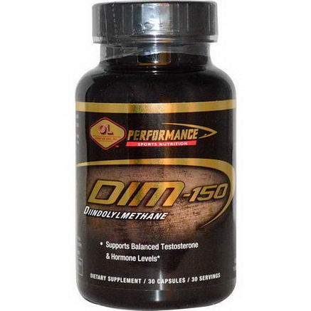 Olympian Labs Inc. Performance Sports Nutrition, DIM, 150mg, 30 Capsules