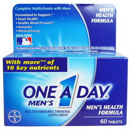 One-A-Day, One A Day Men's, Men's Health Formula, 60 Tablets