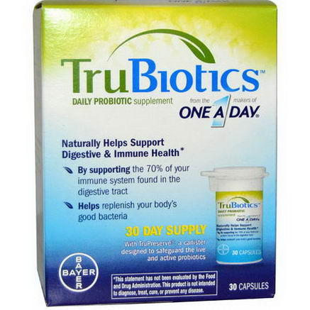 One-A-Day, TruBiotics, Daily Probiotic Supplement, 30 Capsules