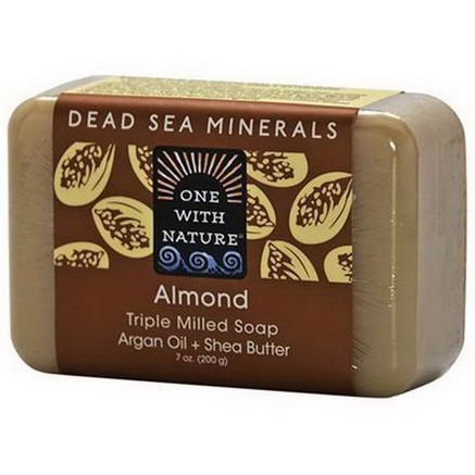 One with Nature, Almond Soap Bar, 7oz (200g)