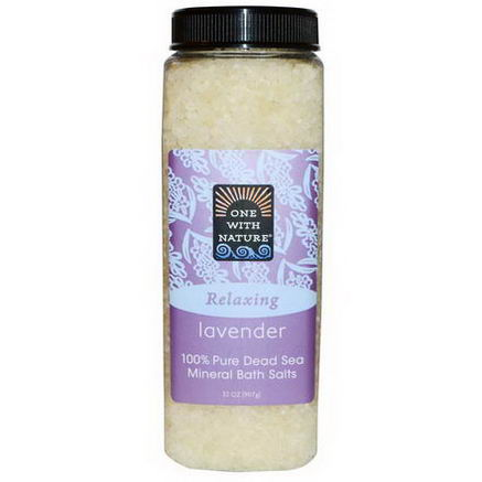 One with Nature, Dead Sea Mineral Bath Salts, Lavender, 32oz (907g)