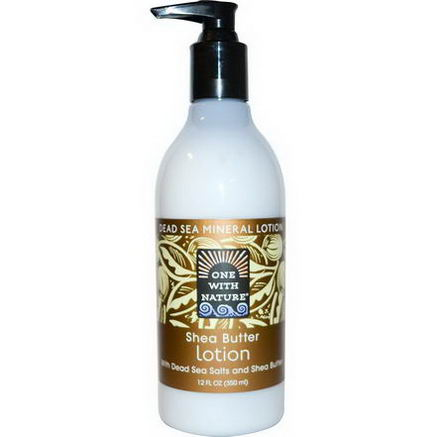 One with Nature, Dead Sea Mineral Lotion, Shea Butter, 12 fl oz (350 ml)