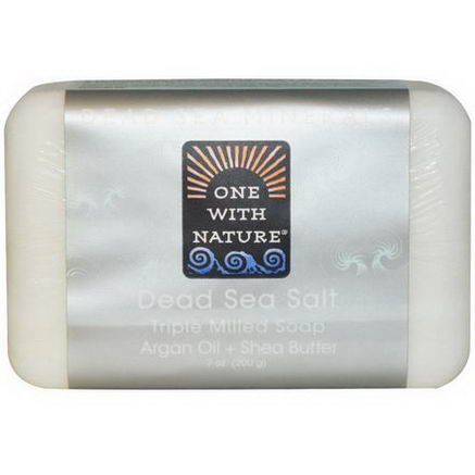 One with Nature, Dead Sea Salt Soap Bar, 7oz (200g)